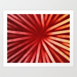 Intersecting-Red Art Print