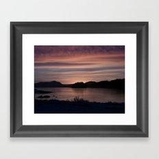 Frozen Sunset 4 - Pale Light Framed Art Print