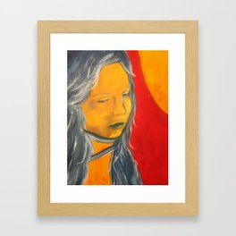 Sun on My Face Framed Art Print