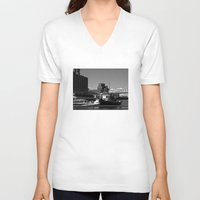 montreal V-neck T-shirts featuring Old Port Montreal by Christophe Chiozzi