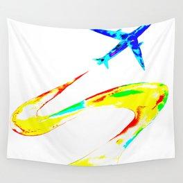 Rainbow Jet Wall Tapestry