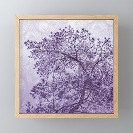 Beautiful Pine Tree Silhouette Purple Color #decor #society6 #buyart Framed Mini Art Print