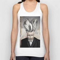 david lynch Tank Tops featuring David Lynch by Khasis Lieb