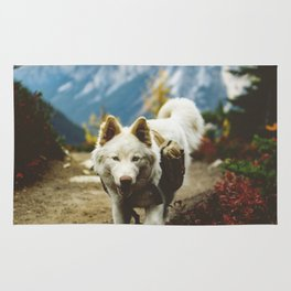 PNW North Cascades Mountains Dog Hike Rug