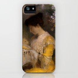 "Odilon Redon ""Madame Arthur Fontaine (Marie Escudier)"" iPhone Case"