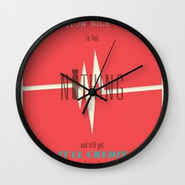 Literary Quote Poster — Slaughterhouse 5 by Kurt Vonnegut Wall Clock