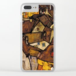 "Egon Schiele ""Krumau - Crescent of Houses (The small City V)"" Clear iPhone Case"
