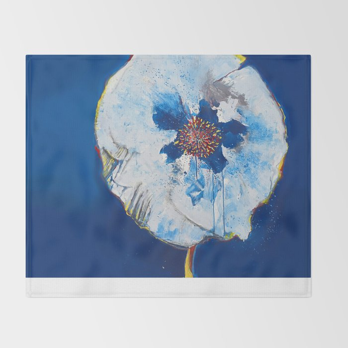 Life in Blue  Throw Blanket