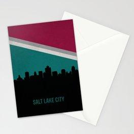 Salt Lake City Skyline Stationery Cards
