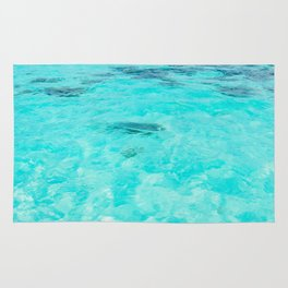Turquoise water & small island Rug