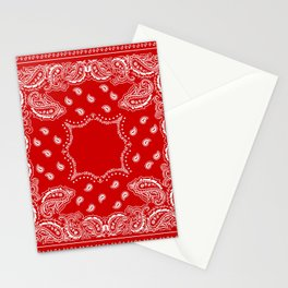 Bandana in Red & White Stationery Cards