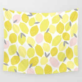 Pink Lemonade Print Wall Tapestry