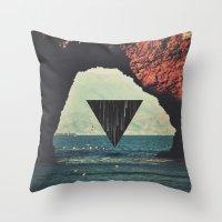 portal Throw Pillows featuring Portal by maysgrafx