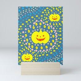 Halloween pumpkin pattern II Mini Art Print