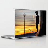 peter pan Laptop & iPad Skins featuring Peter Pan by Marco Ferraro