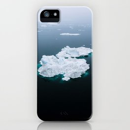 Minimalistc Iceberg during a hazy day with dark foreground iPhone Case
