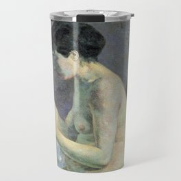 "Paul Gauguin - Study of a nude ""suzanne sewing"" (1880) Travel Mug"