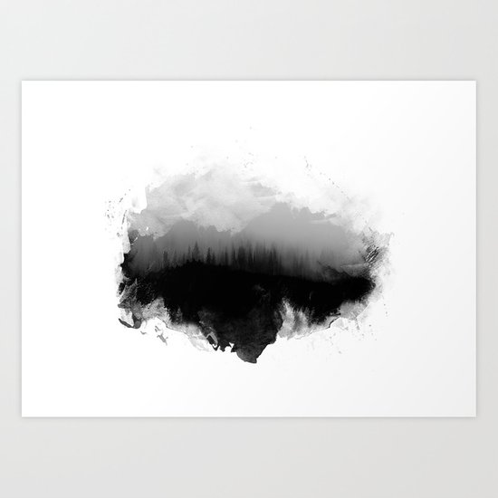Deep into the forest Art Print