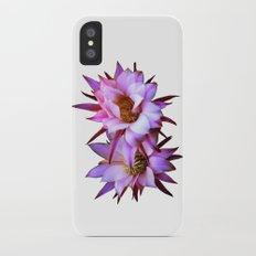 Purple cactus blossom iPhone X Slim Case