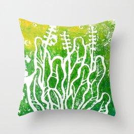 Summer Herbs, green version Throw Pillow