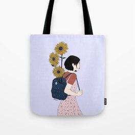 The Sunny Road - Colour version Tote Bag