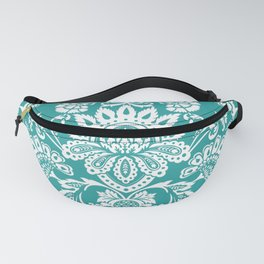 Damask in emerald Fanny Pack