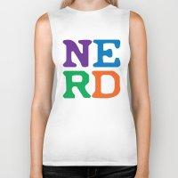 nerd Biker Tanks featuring Nerd by Jenna Allensworth