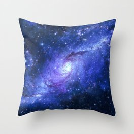 Purple Galxy Swirl Throw Pillow