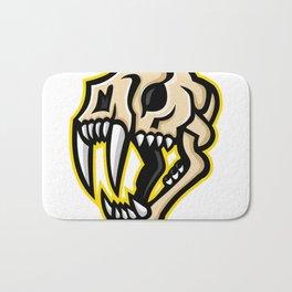 Saber-toothed Cat Skull Mascot Bath Mat