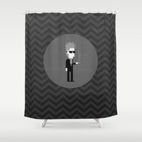 lynch Shower Curtains featuring MISTER LYNCH by UNDEAD MISTER / MRCLV