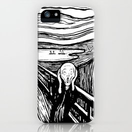 THE SCREAM - EDVARD MUNCH - LITHOGRAPH iPhone Case
