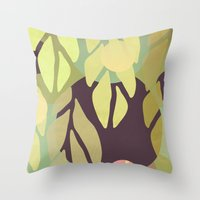 jungle Throw Pillows featuring Jungle by VessDSign