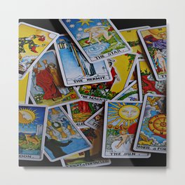 What Do The Cards Hold For You? Metal Print
