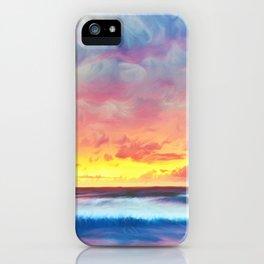 Lonas planet stormy evening iPhone Case