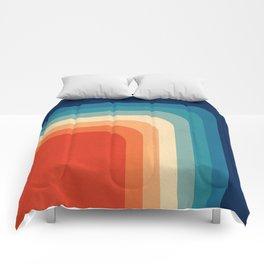 Retro 70s Color Palette III Comforters