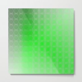 Light to Dark Green Scale Ombre Overlapping Circle Gradient Metal Print