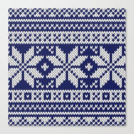 Winter knitted pattern 2 Canvas Print