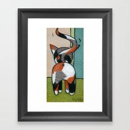 Calico Kitty Butt Framed Art Print
