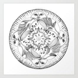 Birds Mandala Art Print