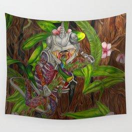 Skittles the Chameleon Wall Tapestry