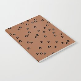 Minimal ink pattern abstract lucky rainbow brush copper Notebook