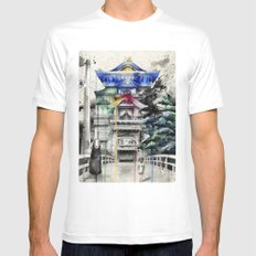 Spirited Away White Mens Fitted Tee LARGE