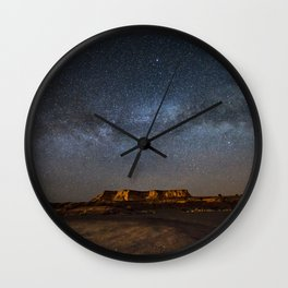 Across the Universe - Milky Way Galaxy Above Mesa in Arizona Wall Clock
