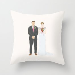 This $75 Custom Portrait Is the Most Thoughtful Wedding Gift Ever Throw Pillow
