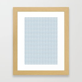 Arrows Up (Blue Pastel) Framed Art Print