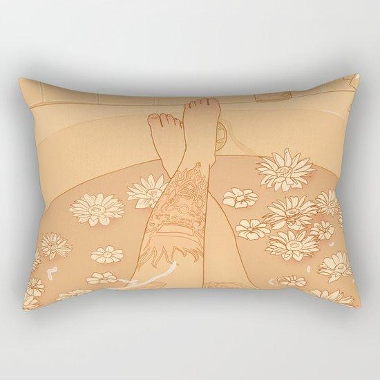 Flower Bath 10 (uncensored version) Rectangular Pillow