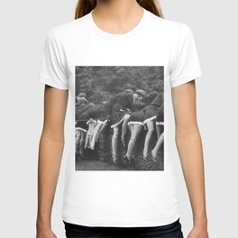 Jazz Age Flappers Head over Heals black and white photograph T-shirt
