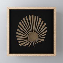 Gold Fan Palm Leaf Framed Mini Art Print