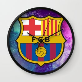 Barcelona FC Galaxy Wall Clock