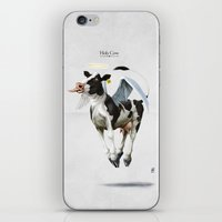 atheist iPhone & iPod Skins featuring Holy Cow by rob art | illustration
